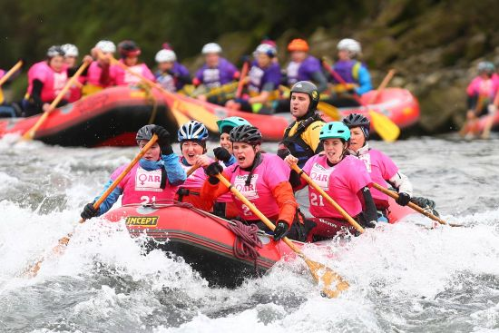 Rafting at the Spring Challenge